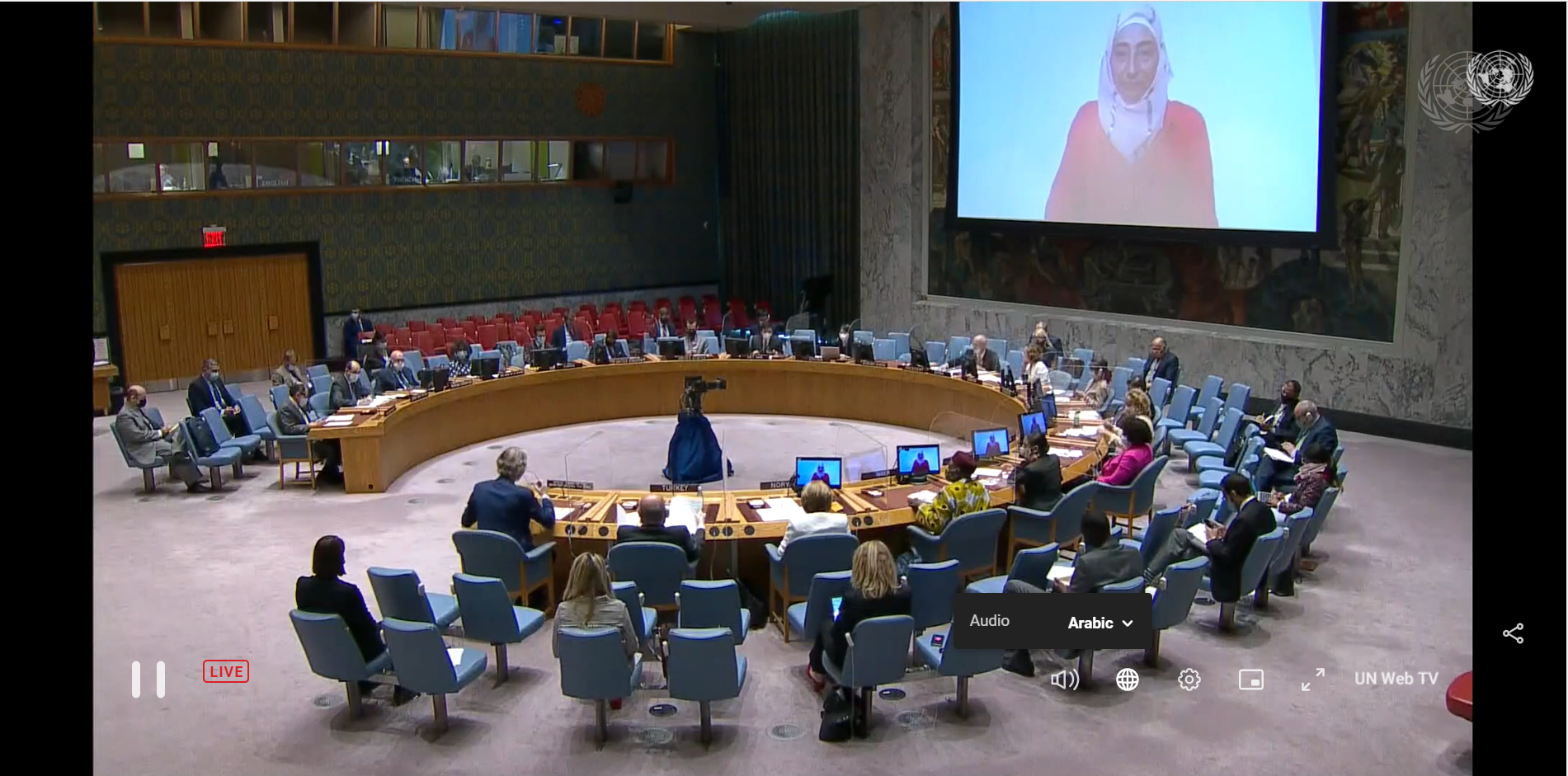 The Syrian Women's Political Movement's statement on its participation in the Security Council session no. 8805